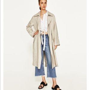 🌷NWT linen trench coat